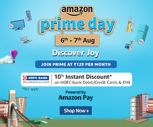 Amazon Prime Day Sale 2020- Up to 80% Off on All Products